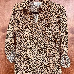 Leopard Print Button Down